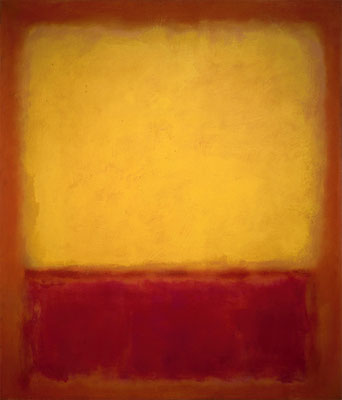 Rothko, Yellow over purple