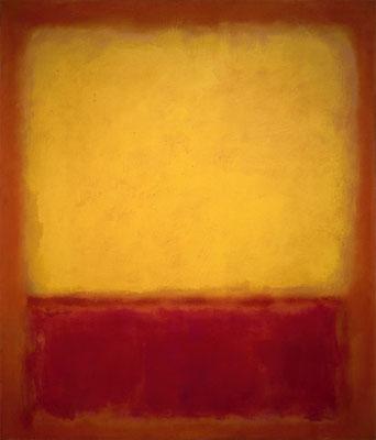 Rothko, Yellow over purple