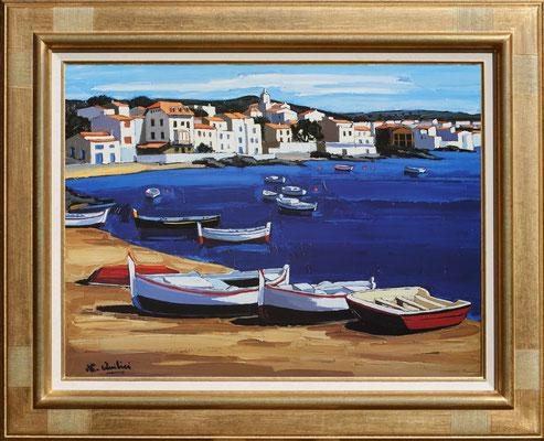 Quilicci, barques sur la plage