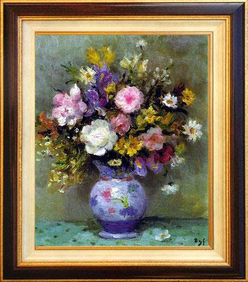 Dyf, bouquet au pot bleu
