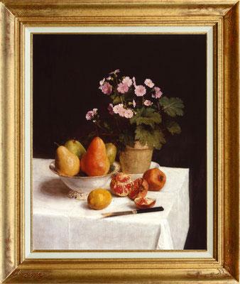 Fantin Latour, poires et fleurs