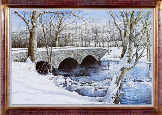"""Campanelli """"le pont en hiver"""""""