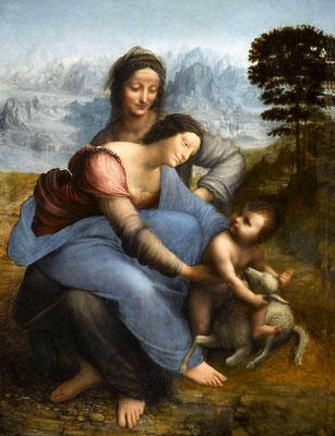 De Vinci, La Vierge, l'Enfant Jésus et Sainte Anne