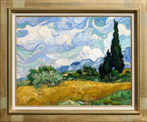Van Gogh, champs de blé aux cyprés