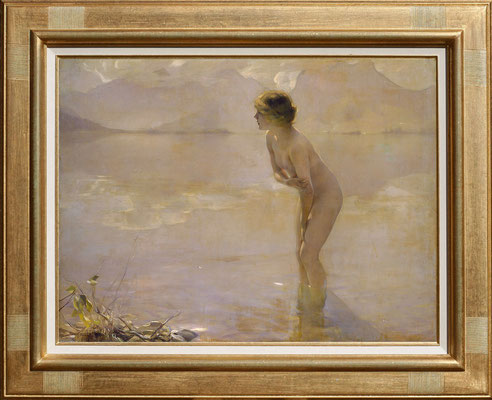 Chabas, baignade dans le lac d'Annecy