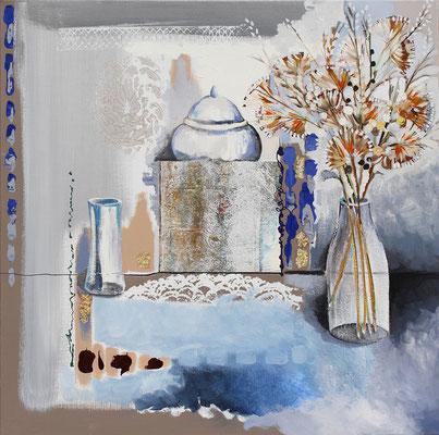 Tissot, nature morte bleue