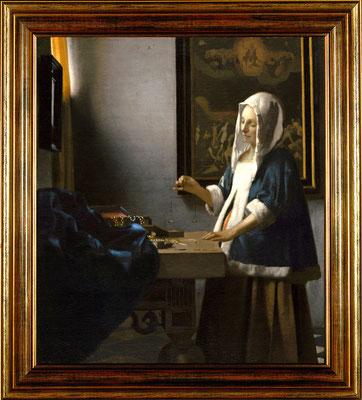 Vermeer, femme à la balance