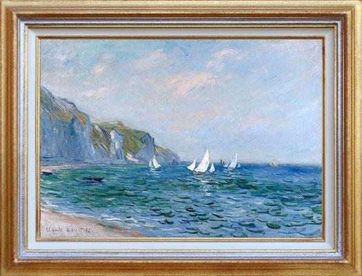 Monet, falaises et voiliers à Pourville