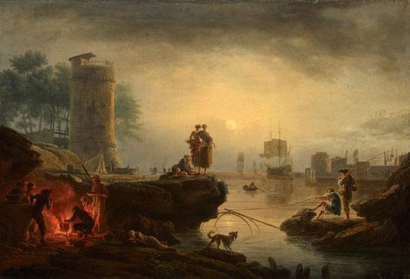 Vernet, coucher de soleil sur le port - 1767
