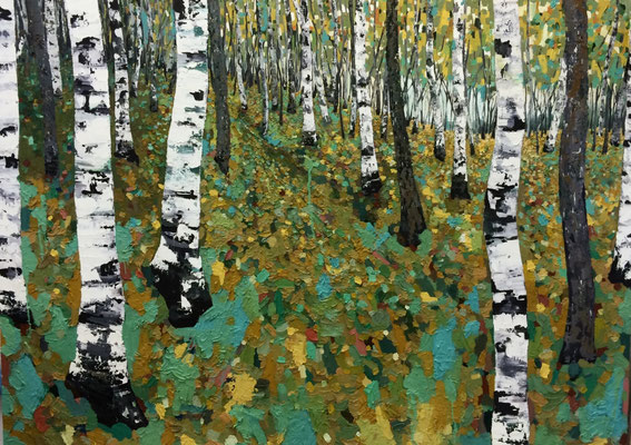 """Waldweg 1"" 250cm-180cm Öl auf Leinwand 2016"