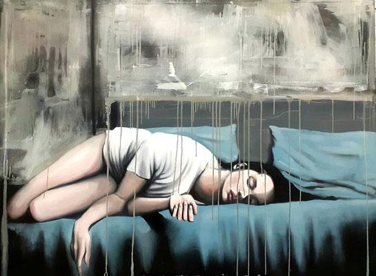 """""""sleeping Beauty"""" 160cm-120cm Öl auf Leinwand 2020"""