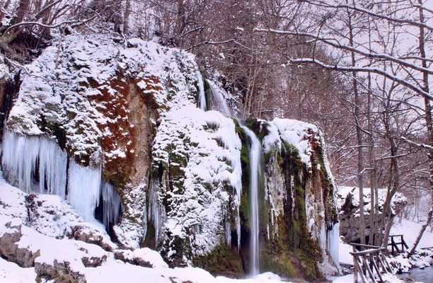 Nohner Wasserfall im Winter