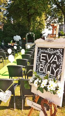 Bild: Hochzeitstafel im Schulauer Fährhaus mit A.M.G-Freie Rednerin