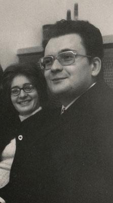 Claudia Erdheim und Horst Thomé (Ehemann), München 1972