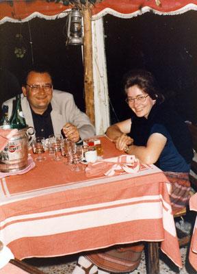 Horst Thomé und Claudia Claudia Erdheim, Capri 1982