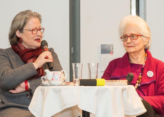 """Susanne Scholl und Claudia Erdheim, Präsentation von """"Bist du wahnsinnig geworden?"""" 2018"""