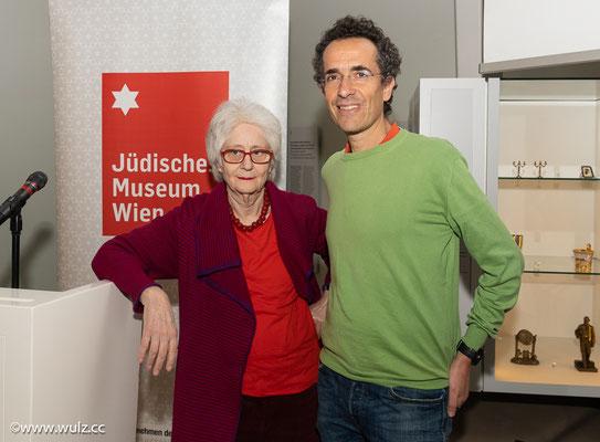 Claudia Erdheim, Jérôme Segal, Jüdisches Museum, 10.12.2019: Claudia Erdheim spricht mit Jérôme Segal über die beiden Familien.