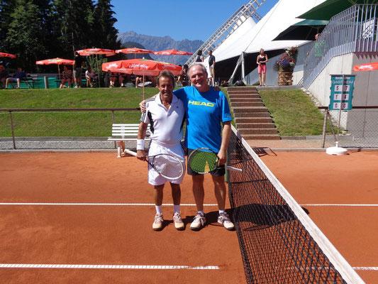 Vereinsmeister Senioren 40+ Christoph Vallaster (rechts) und Herbert Heim