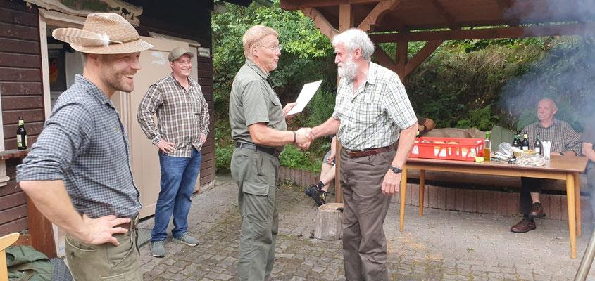 Walter Weber 40 Jahre Mitgliedschaftsehrung