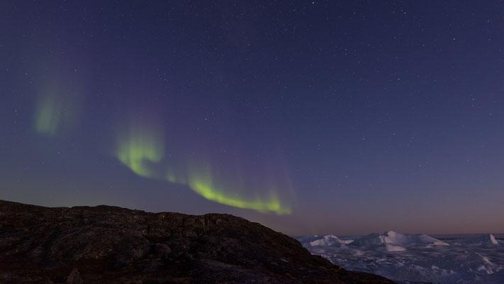 Aurora Borealis at Ilulissat Ice Fjord