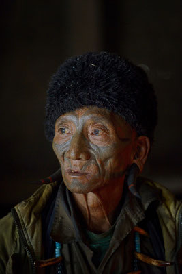 Naga man in Longwa - Nagaland