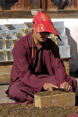 Monk in Cheri Monastery