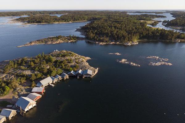 Aerial shot Karingsund - Aland