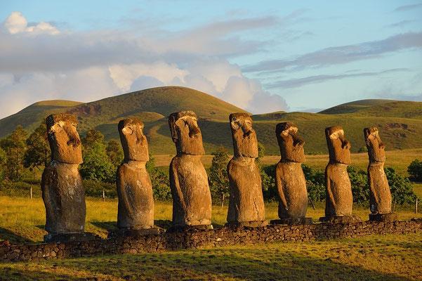 Ahu Akivi Moai - Easter Island