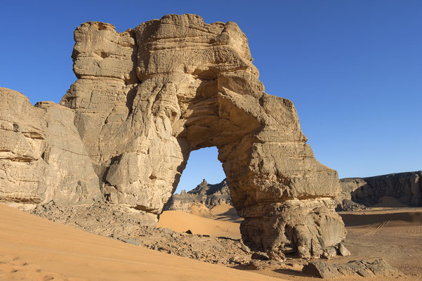 Afzgar Natural Rock Arch / Akakus Libya