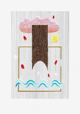 (≈'[]∞.)   Graphit und Buntstifte auf Papier, 29,7 × 21 cm, 2017