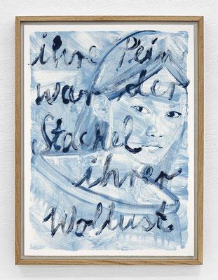 """""""Ihre Pain war der Stachel ihrer Wollust."""" Monotypie, Ölfarbe auf Papier, 76 × 56 cm, 2017"""