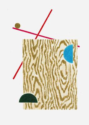 (•Xd)   Graphit und Buntstifte auf Papier, 29,7 × 21 cm, 2017