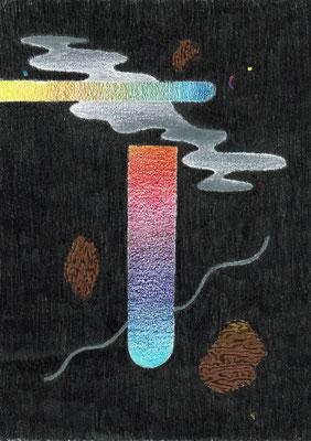 (~I-8)   Graphit und Buntstifte auf Papier, 29,7 × 21 cm, 2017