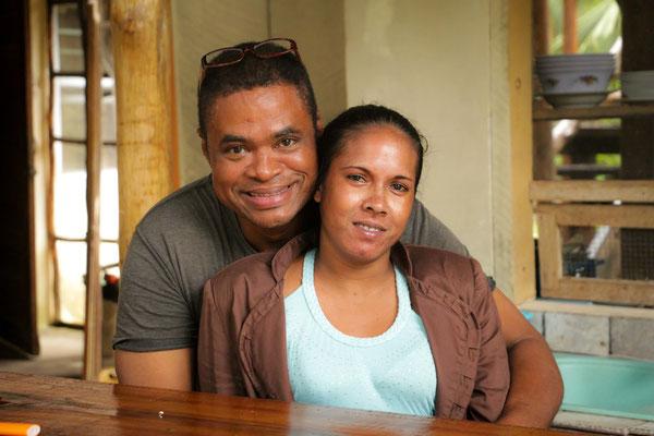 Mark und seine Freundin. Unser erster Couchsurfer in Belize