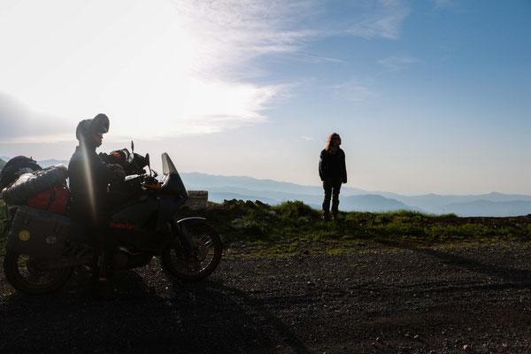 Gebirgspass zwischen Georgien und Armenien