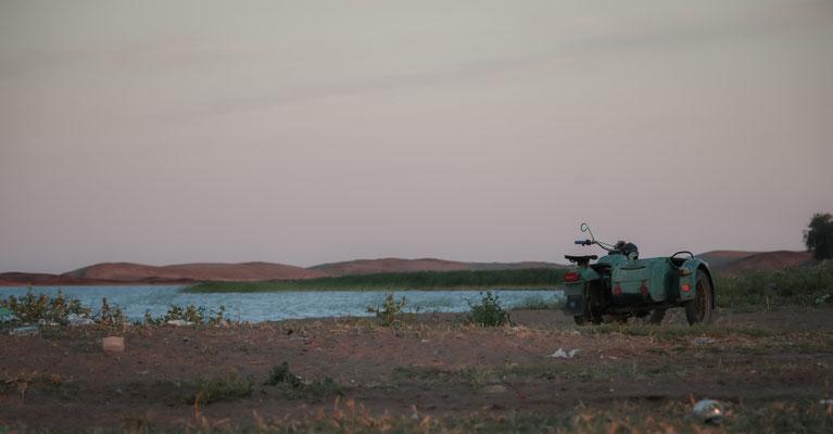 Am Balkash in Kasachstan