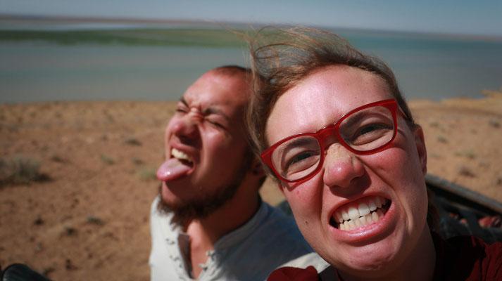 An der Grenze zu Turkmenistan. Grrrrrrr