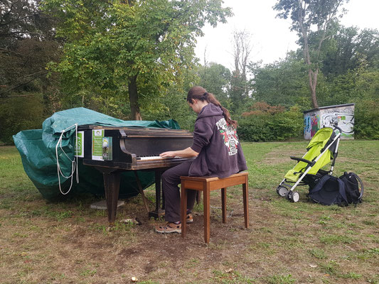 Leipziger Tastentage Klavier Standort Schönauer Park