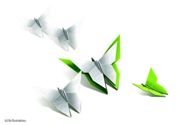 illustration, méditation, origami, mise en page, logo, graphisme