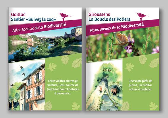 Atlas biodiversité, illustration, pédagogique, pédagogie illustrée, nature, faune, flore, Tarn, occitanie, graphisme, écologie