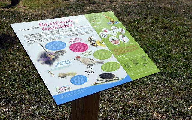 panneaux pédagogiques, nature, utiles, écosystèmes, illustrations, graphisme, texte, conception, rédaction, illustration