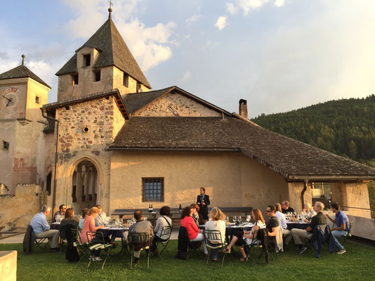 Taste regional vintages at Prösels Castle, a Tyrolean fortress dating back to the 1200s