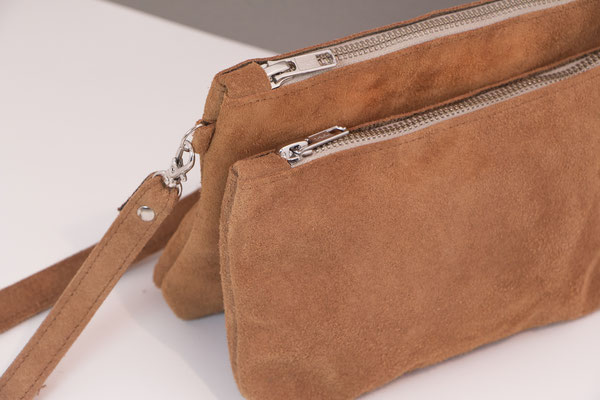 cognac crossbody bag recycled leather