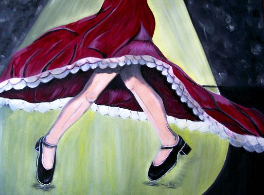 Flamenco - Öl - 100 x 70 cm