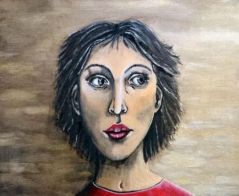 Angst, Acryl auf Malpappe - 24 x 30 cm
