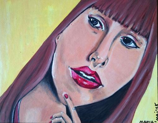 Überrascht, Acryl auf Malkarton - 24 x 30 cm, 200,--