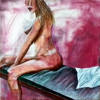 In Erwartung - 40 x 40 cm - 200,-- Acryl