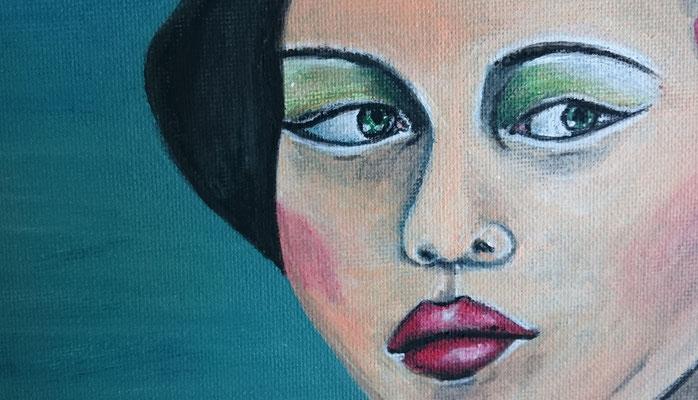 Misstrauen, Acryl auf Malkarton - 24 x 30 cm, 200,--