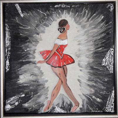 Ballerina - Collage gerahmt