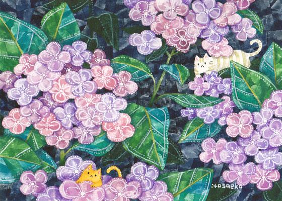 「きづいてほしい」130×180mm/水彩絵具・ペン